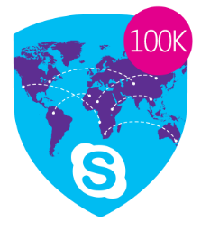 Skype Miles Traveled 100,000
