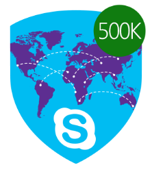 Skype Miles Traveled 500,000