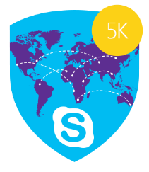 Skype Miles Traveled 5,000